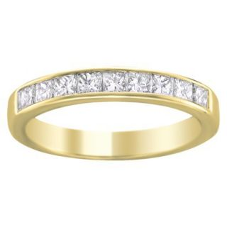 1/4 CT.T.W. Diamond Band Ring in 14K Yellow Gold   Size 6