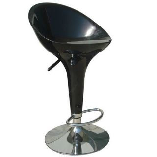 Sybill Adjustable Black Chrome Finish Air Lift Stools (set Of 2) (Black Materials ABS seat and back, metalFinish Chrome Adjustable air lift stoolDimensions 36 inches high x 18.5 inches wide x 20 inches deep )