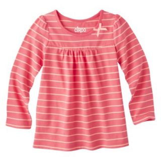 Circo Infant Toddler Girls Long sleeve Stripe Tee   Playful Coral 5T