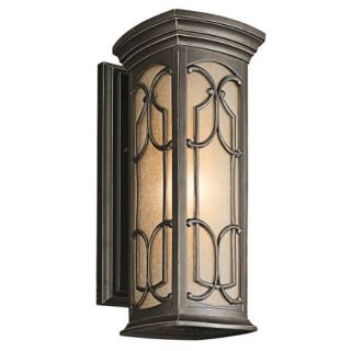 Kichler 49227OZ Outdoor Light, Classic (Formal Traditional) Wall Lantern 1 Light Fixture Olde Bronze