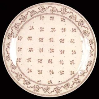 Johnson Brothers Petite Fleur Burgundy/Pink Dinner Plate, Fine China Dinnerware