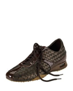 Womens Air Bria Woven Leather Oxford, Dark Brown   Cole Haan