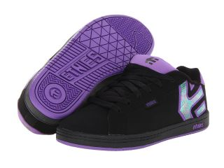 etnies Kids Fader Girls Shoes (Black)