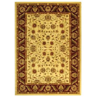 Lyndhurst Collection Tabriz Ivory/ Red Rug (9 X 12)