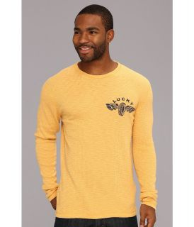 Lucky Brand Retread Graphic Thermal Mens Long Sleeve Pullover (Yellow)