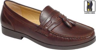 Mens Deer Stags Patrick   Dark Maple Slip on Shoes
