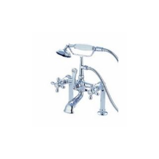 Elements of Design DT1041AX St. Louis Clawfoot Tub Filler With Hand Shower