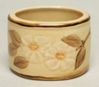 Franciscan Cafe Royal Napkin Ring, Fine China Dinnerware   Embossed Flowers,Brow