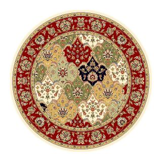 Lyndhurst Collection Multicolor/red Area Rug (8 Round) (MultiPattern OrientalMeasures 0.375 inch thickTip We recommend the use of a non skid pad to keep the rug in place on smooth surfaces.All rug sizes are approximate. Due to the difference of monitor