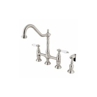 Elements of Design ES1278PLBS New Orleans Two Handle Kitchen Faucet With Spray