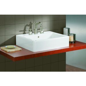 Cheviot 1230 19 WH 1 Nuovella Vessel Sink with Single Hole Faucet Drilling