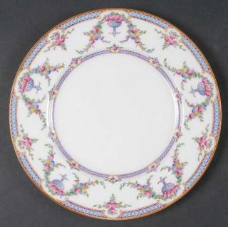 Royal Worcester Rosemary Sky Blue/White Salad Plate, Fine China Dinnerware   Lig