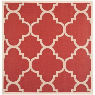 Safavieh Indoor/ Outdoor Courtyard Red Rug (67 Square)
