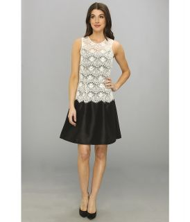 Jessica Simpson Sleeveless Fit Flare Dress w/ Back Cutout Womens Dress (White)