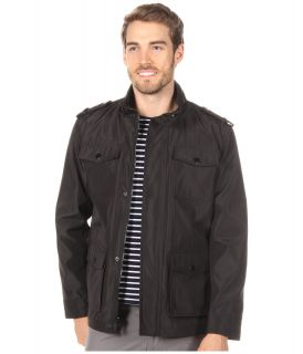 Kenneth Cole Reaction Bonded Poly 4 Pocket Mens Coat (Black)