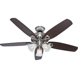 Hunter HUF 53237 Builder Plus Builder Ceiling Fan with light