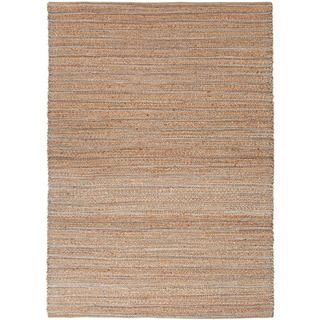 Handmade Naturals Solid Pattern Blue/ Brown Rug (26 X 4)