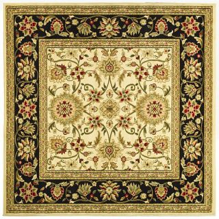 Lyndhurst Collection Majestic Ivory/ Black Rug (8 Square)