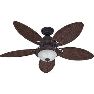 Hunter HUF 54095 Caribbean Breeze Traditional Ceiling Fan with light