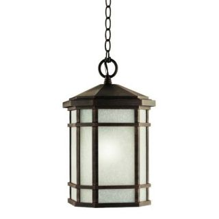 Kichler 9511PR Outdoor Light, Arts and Crafts/Mission Pendant 1 Light Fixture Prairie Rock