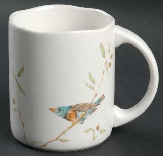 222 Fifth (PTS) Early Bird Mug, Fine China Dinnerware   Bird On Branch,Coupe,Squ