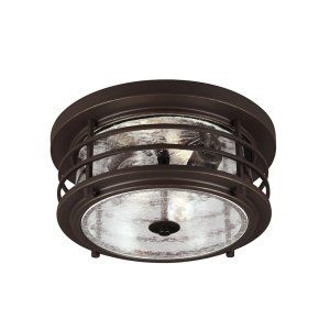 Sea Gull Lighting SEA 7824402 71 Sauganash Two Light Outdoor Ceiling Flush Mount
