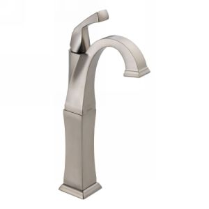 Delta Faucet 751 SS DST Dryden Single Handle Lavatory Faucet with Riser