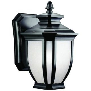 Kichler 9039BK Outdoor Light, Transitional Wall Mount 1 Light Fixture Black (Painted)
