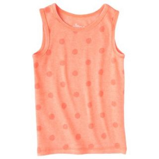 Circo Infant Toddler Girls Ribbed Polka Dot Tank Top   Moxie Peach 18 M