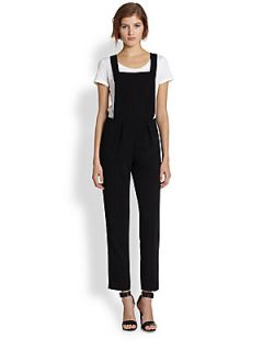 Line & Dot Tailored Overalls   Black