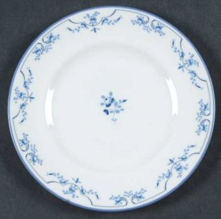 Royal Worcester Petite Fleur (Blue, Smooth) Bread & Butter Plate, Fine China Din