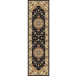 Lyndhurst Collection Traditional Black/ Ivory Runner (23 X 6)