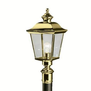 Kichler 9913PB Outdoor Light, Classic (Formal Traditional) Post Mount 1 Light Fixture Polished Brass