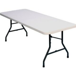 Correll Blow Molded Food Service Folding Table w/ Steel Frame, 30 x 96 in, Gray Granite