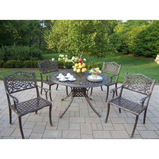 Oakland Living Capitol Cast Aluminum 48 in. Mississippi Patio Dining Set