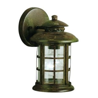 Kichler 9759RST Outdoor Light, Transitional Wall 1 Light Fixture Rustic