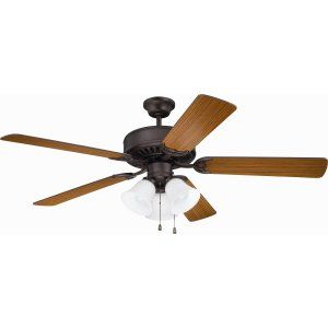 Ellington Fans ELF E205ABZ Pro 205 52 Ceiling Fan Motor only with Integrated Li