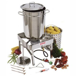 Bayou Classic Complete Stainless Steel Turkey Fryer Kit   32 qt. Multicolor