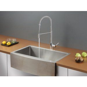Ruvati RVC2431 Combo Stainless Steel Kitchen Sink and Chrome Faucet Set