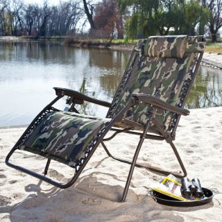 Coral Coast Extra Wide Padded Zero Gravity Lounge Chair   Camouflage
