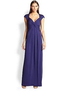 Nicole Miller V Neck Gown   Ink