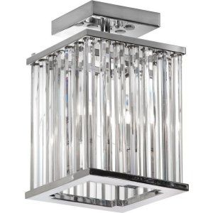 Dainolite DAI ARU 82FH PC Aruba 2 Light Crystal Semi Flush Mount Fixture