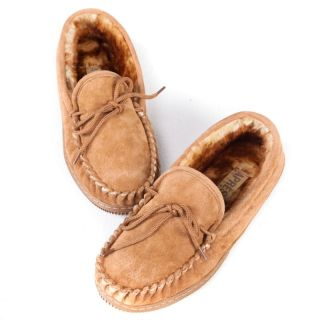 Lamo Mens Suede Moccasin Slippers   Chestnut Multicolor   P102M 12 CHESTNUT, 12