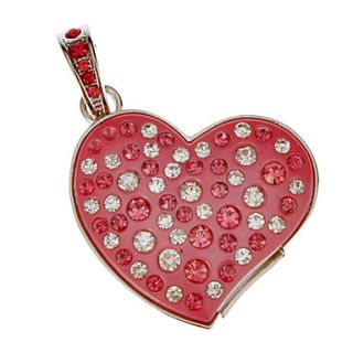 4G Crystal Heart Shaped USB Flash Drive