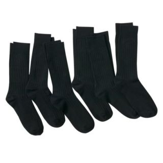 Merona Mens 6Pk Dress Socks   Black