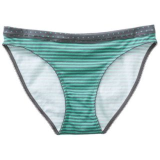 Xhilaration Juniors Cotton Bikini   Green Heather XS