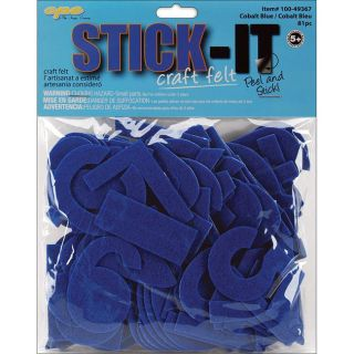 Stick It Felt Cobalt Numbers And Letters (case Of 80) (CobaltSize 2 inchCase of 80Imported 2 inchCase of 80Imported )