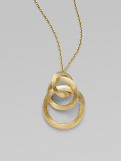 Marco Bicego 18K Yellow Gold Link Pendant Necklace   Gold