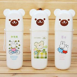 PP Cute Bear Shaped Tooth Brush Holder, W7cm x L21cm x H4.5cm