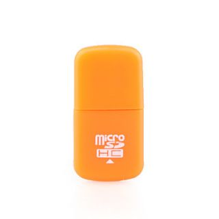 Mini USB Micro SDHC Memory Card Reader (Orange)